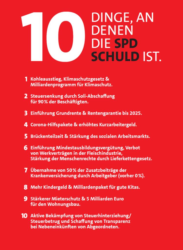 10 Dinge, an denen die SPD schuld ist.